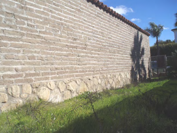 El Presidio de Santa Barbara Defense Wall